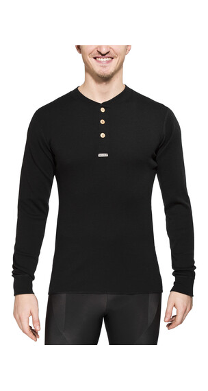 Aclima Warmwool Granddad Shirt Men jet black